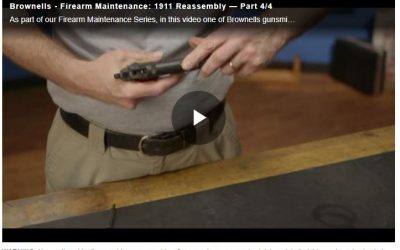 BROWNELLS 1911 REASSEMBLY VIDEO